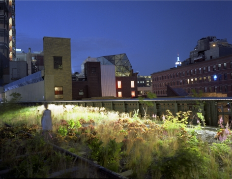 Girl on the Highline, 2009, Chromogenic Print, available in: 20 x 24 inches, edition of 15; 30 x 40 inches, edition 15; and 40 x 50 inches, edition of 5.