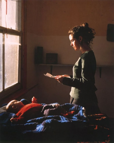 Woman Reading a Possession Order, 1997, 24 x 20 or 60 x 48 inch Cibachrome print