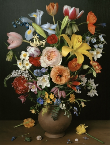 Photograph by Sharon Core titled 1606 from the series 1606-1907 of a floral still life arranged in the style of a classical painting