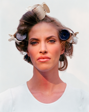 Woman in Curlers, from the series The Valley, 2002, 60 x 50 inch archival pigment print please inquire for additional sizes