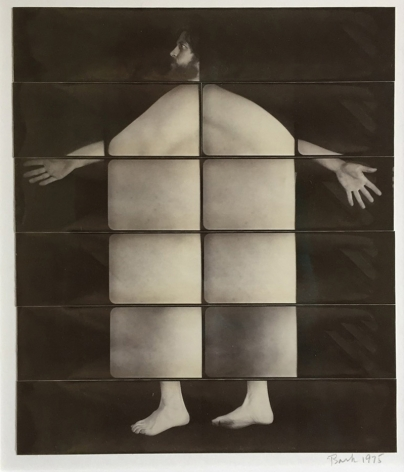 Jared Bark,Untitled, PB #1182,1975. Vintage gelatin silver photobooth prints, 14 1/4 x 12 1/2 inches. Unique.