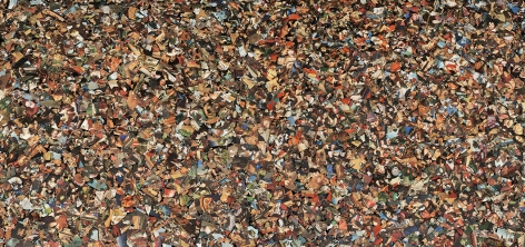 Ori Gersht,Becoming, Wreckage Upon Wreckage,2021. Archival pigment print, 39 3/8 x 83 1/2 inches.