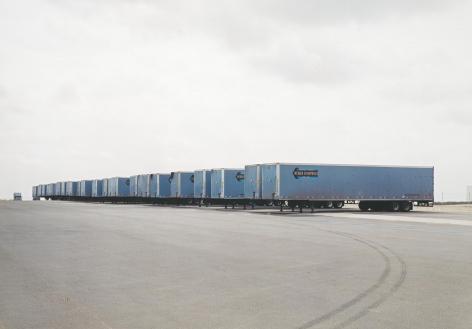 Untitled, Blue trucks, 2003, 39 x 55 inch or 55 x 75 inch chromogenic print.
