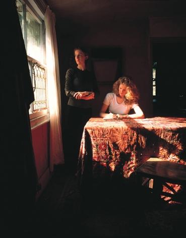 Tom Hunter, Girl Writing an Affidavit,1997, 24 x 20 inch cibachrome print.