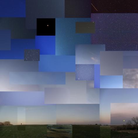 Night, near Salina, Kansas,April 2020, 2020. Archival pigment print, 40 x 40 inches.