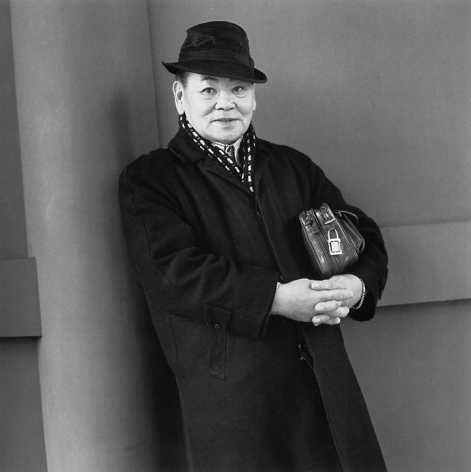 A Man Wearing Ten-Yen Coins As Earplugs, Whose Hobbies Are Jazz and Japanese-Style Painting, 2003. Gelatin Silver Print. 14 x 14 inches, Edition of 20