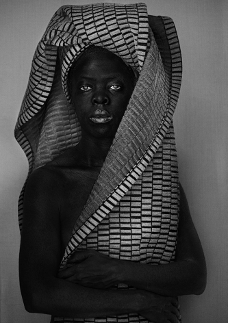 Zanele Muholi,Lena, London, 2018. Gelatin silver print,39 3/8 x 27 3/4 inches.