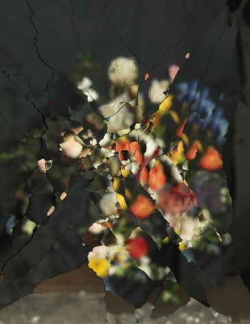 On Reflection, Material E02, After J. Brueghel the Elder, 2014, 74 3/4 X 59 1/8 inch archival pigment print