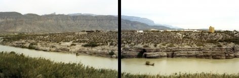 Untitled (Boquillas del Carmen), Big Bend National Park, 2009,  2 39 x 55 inch chromogenic prints