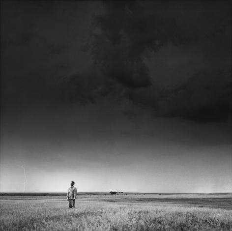 Lightning Field, North Dakota, 1986. Gelatin silver print, 16 x 16 inches.