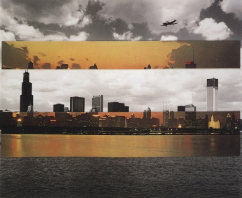 Chicago (73-2-12-9), 1973, 7 x 9 inch gelatin silver print and collage