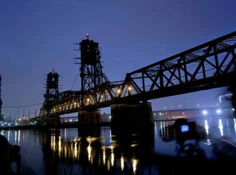 Students at the Hackensack Bridge, 2008, Chromogenic Print, available in: 20 x 24 inches, edition of 15; 30 x 40 inches, edition 15; and 40 x 50 inches, edition of 5.