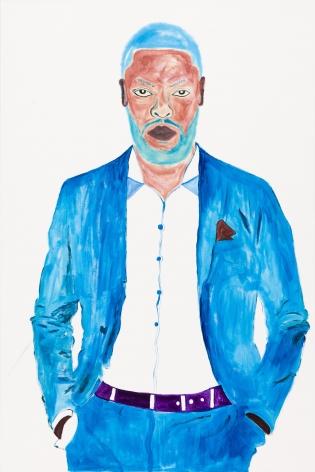 Phiwokakhe,2021. Acrylic on canvas, 70 7/8 x 47 1/4 inches.