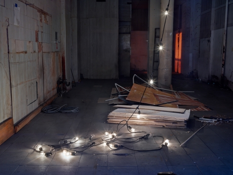 Lynn Saville,String of Lights, 2014 Archival pigment print 30 x 40 inches Edition of 15