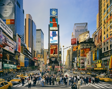 Duffy Square, Times Square, from the series New York, 2002. Archival pigment print. Available at 30 x 40 inches, edition of 10, or 40 x 50 inches, edition of 5, or 50 x 60 inches, edition of 3.
