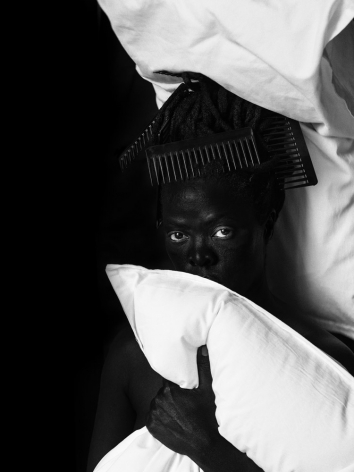 Zanele Muholi,Sine II, Sheraton Hotel, Brooklyn,2019. Gelatin silver print, 25 1/2 x 19 1/4 inches.