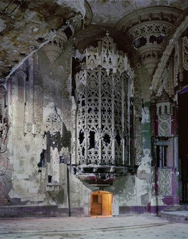 Organ Screen, from the series Detroit, 2008. Archival pigment print. Available at 40 x 30, 50 x 40, 60 x 50, or 90 x 70 inches, edition of 5.