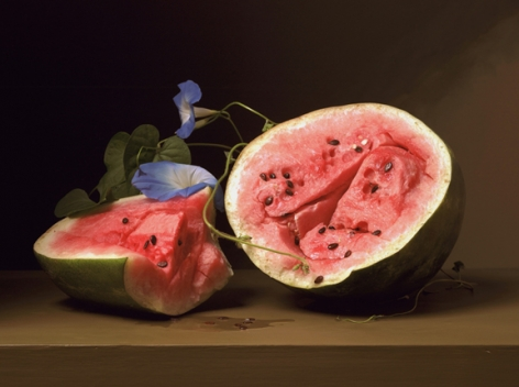 Early American, Melon and Morning Glories, 2008. Chromogenic print,20 1/2x 27 inches.