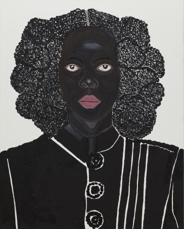 Tholakele,2021. Acrylic on canvas, 59 1/8 x 47 3/4 inches.
