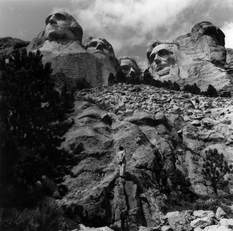Mount Rushmore, South Dakota, 1986. Gelatin silver print, 16 x 16 inches.