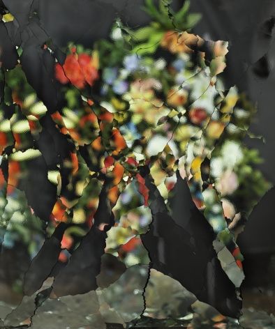On Reflection, Material E23, After J. Brueghel the Elder, 2014, 84 5/8 x 70 7/8 inch archival pigment print