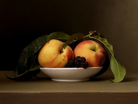 Early American, Peaches and Blackberries, 2008. Chromogenic print,12 1/2x 16 1/2inches.