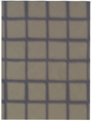 Gray Grid, 2019. Construction paper and light, 12 x 9 inches.