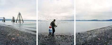 Water Breaking, 2008. Three-panel archival pigment print, available as 24 x 60 or 40 x 90 inches.