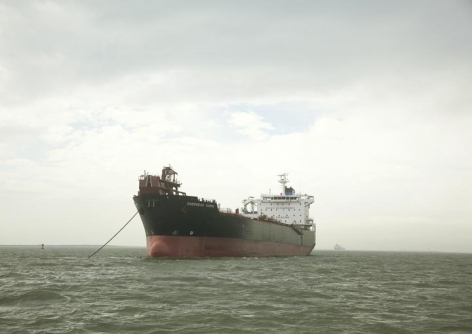 Untitled (Oil/Chemical Tanker, Overseas Tampa, USA), Houston Ship Channel, Texas, 2015.