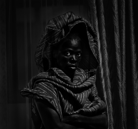 Wenzeni II, City Lodge Hotel, Johannesburg,2019. Gelatin silver print, 27 5/8 x 29 1/2 inches.