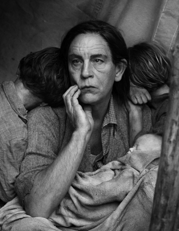 Dorothea Lange / Migrant Mother, Nipomo, California (1936), 2014, Archival pigment print, 12 x 9 inches