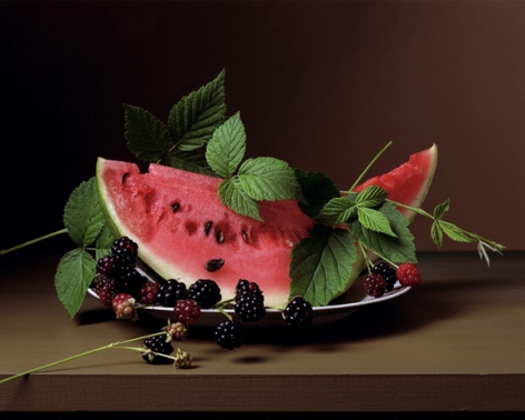 Early American, Watermelon and Blackberries, 2009. Chromogenic print, 14 x 18 1/2 inches.