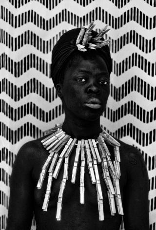 Zanele Muholi,Misiwe II, Biljmer, Amsterdam,2017. Gelatin silver print, image: 19 3/4 x 13 1/3 inches, paper: 23 2/3 x 17 1/4 inches.