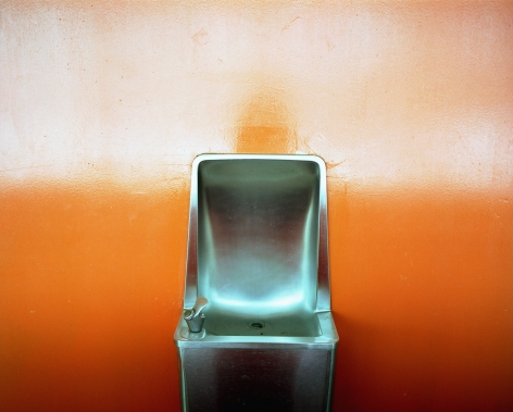 Orange Water Fountain, PS26, Governor's Island, 2003. Archival pigment print, 20 x 24 inches.
