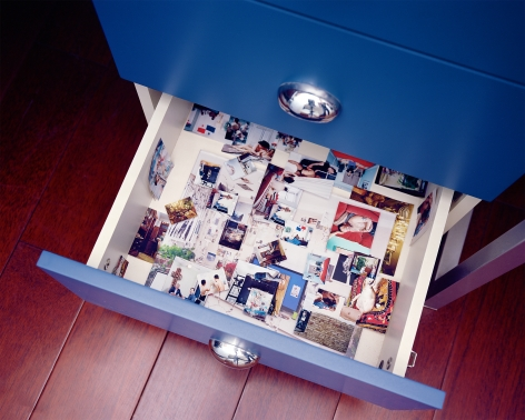 Inside of My Drawer, 2019. Archival pigment print. From the seriesTemporarily Censored Home.