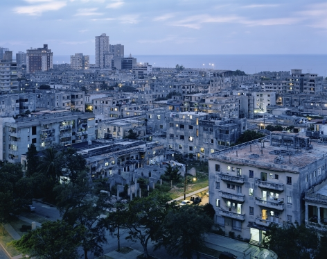 Vedado Azul, from the series Cuba, 2001. Archival pigment print. Available at 30 x 40 inches, edition of 10, or 40 x 50 inches, edition of 5, or 50 x 60 inches, edition of 3, or 70 x 90 inches, edition of 3.