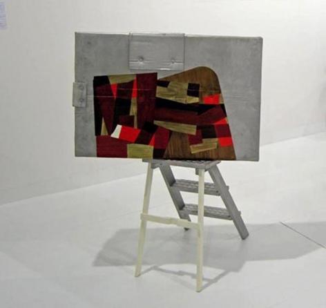 Felin's Ladder(Alternate view), 2007, cast aluminum and acrylic paint, 48 x 35 x 31.5 inches, unique