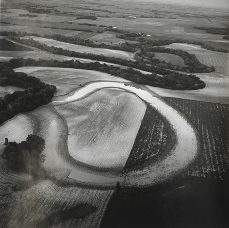 Solomon River Oxbow, August 2, 1990, 15 x 15 inch gelatin silver print