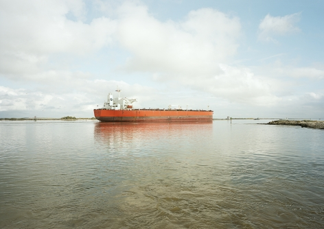 Untitled (Crude Oil Tanker, Eagle Stealth, Marshall Is.), Houston Ship Channel, Texas, 2016. 39 x 55 or 55 x 78 inch chromogenic Print.