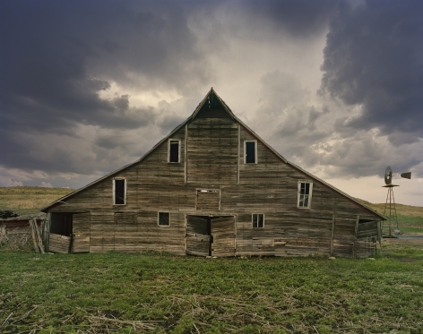 Cash Meier Barn, Shadbolt Ranch, Cherry County, Nebraska, 2012. From the series Dirt Meridian. Archival pigment print.