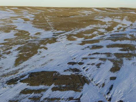 Fence Line Drift, Dawes County, Nebraska,2013