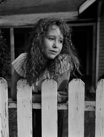 Maia, Knoxville, TN (woman at fence) 1991 Gelatin silver print, please inquire for available sizes