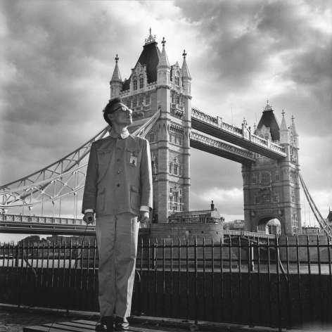 London, England, 1983. Gelatin silver print, 16 x 16 inches.