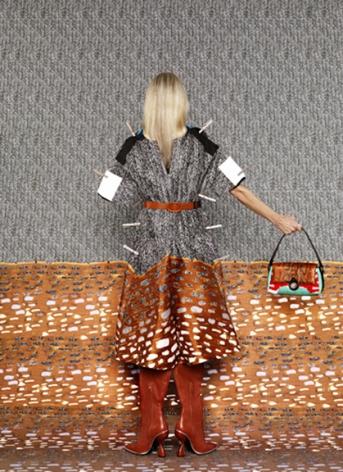 Vogue (Balenciaga), 2011, archival pigment print, 35.75 x 26 inches.