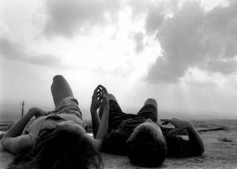 Stone Mountain, GA (couple lying on rock)1994