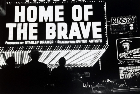 Louis Faurer,Home of the Brave, new York,c. 1947. Gelatin silver print, printed later, 11 x 14 inches.