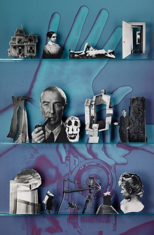 Photographers (Library),2013. Chromogenic print, 76 x 50 inches.