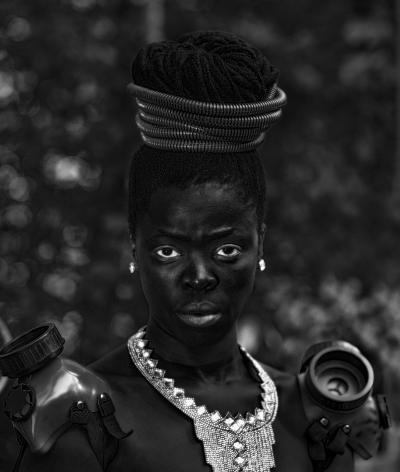 Zanele Muholi,Namhla II, Chapel Hill, North Carolina,2016. Gelatin silver print, paper dimensions: 19 5/8 x 17 1/4 inches, image dimensions: 15 3/4 x 13 3/8 inches.