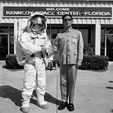 Cape Canaveral, Florida, 1985. Gelatin silver print, 16 x 16 inches.