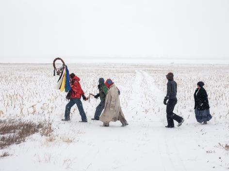 Standing Rock Prayer Walk, North Dakota,2018. Chromogenic print.